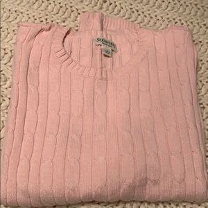 Pale pink cotton/nylon cable sweater size large